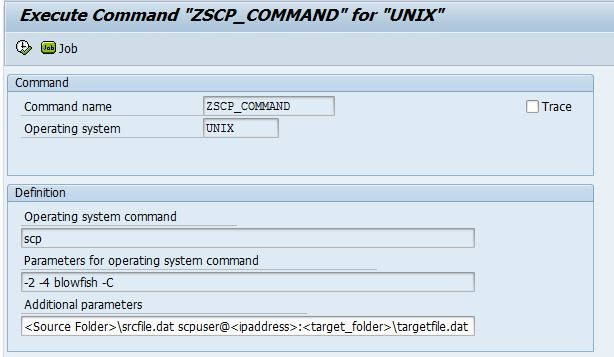 Data Transfer from SAP to SFTP server Using OS Commands