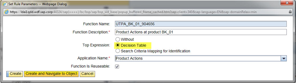 Product Actions – A Utilities-Specific BRFplus Function with