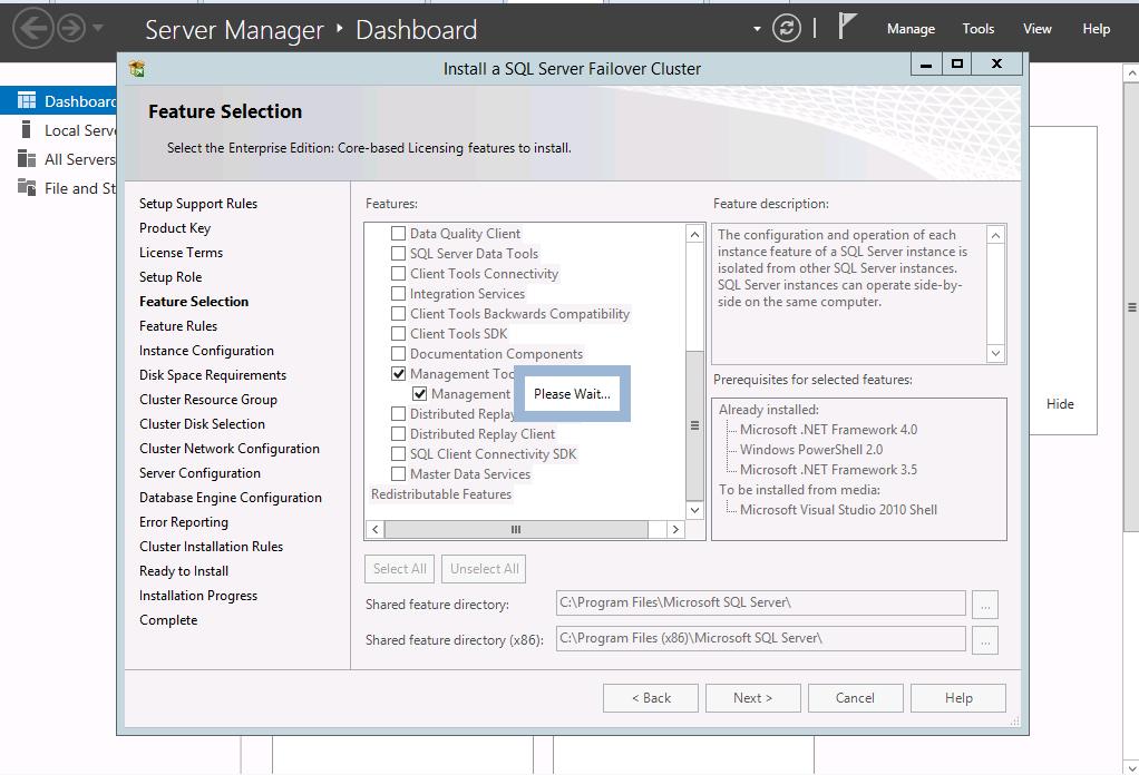 Installing SAP HA on SQL Part1: Install SQL Server Cluster