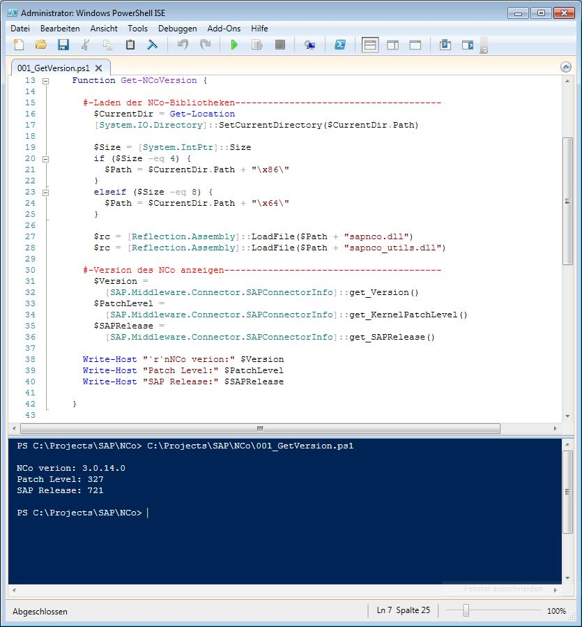 3fa458aca324c5 How to use PowerShell Script Language via dotNET Connector (NCo) in ...
