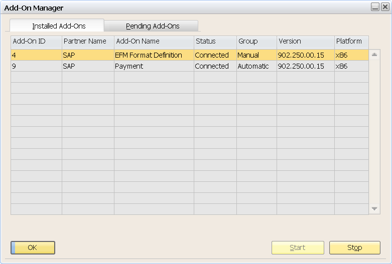 Sap Business One Eft Bank File Format Electronic Funds Transfer