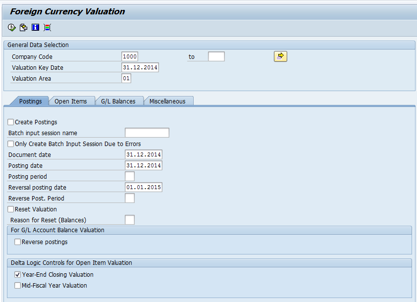 Forex valuation configuration sap