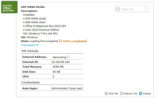 image 1e2 rev CloudShare Show details for SAP HANA Studio.jpg