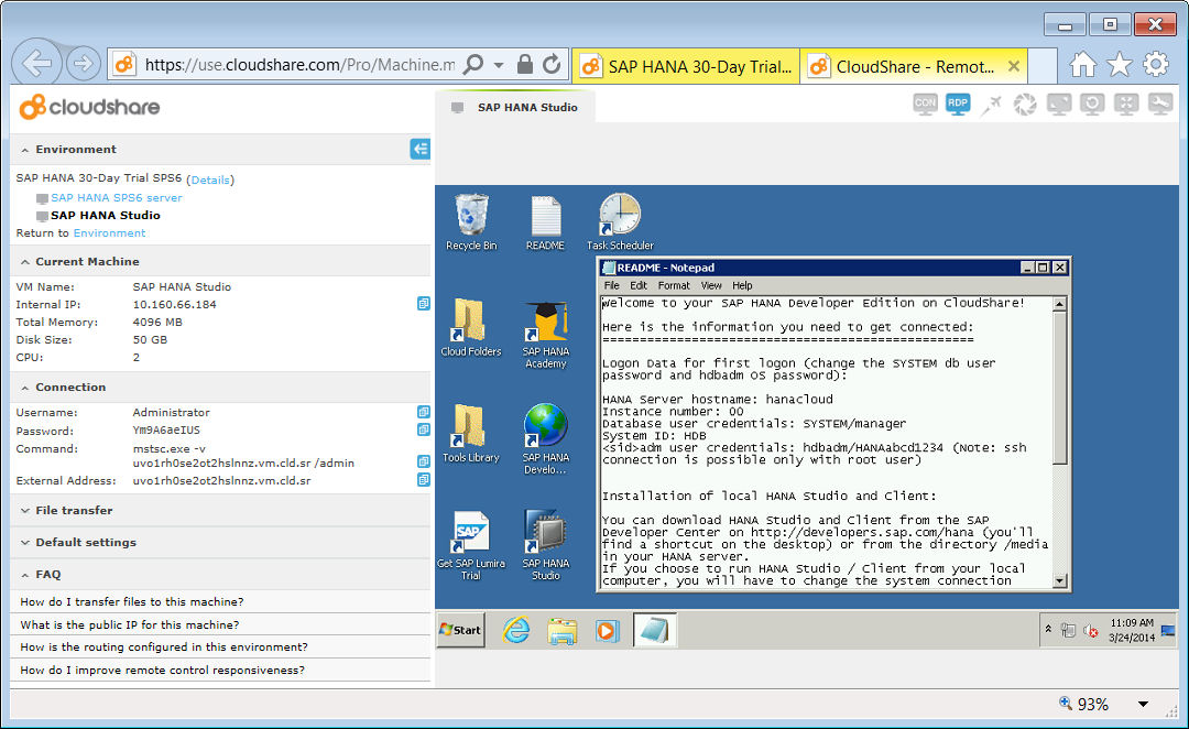 image 2a rev CloudShare SAP HANA Studio - View VM - first use - README.jpg