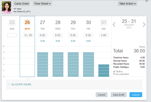 SuccessFactors Employee Central Time Sheet and Time