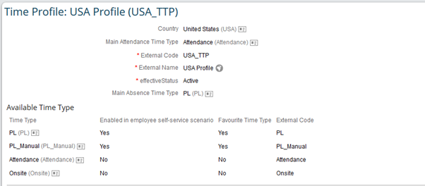 successfactors employee central time sheet and time valuation sap