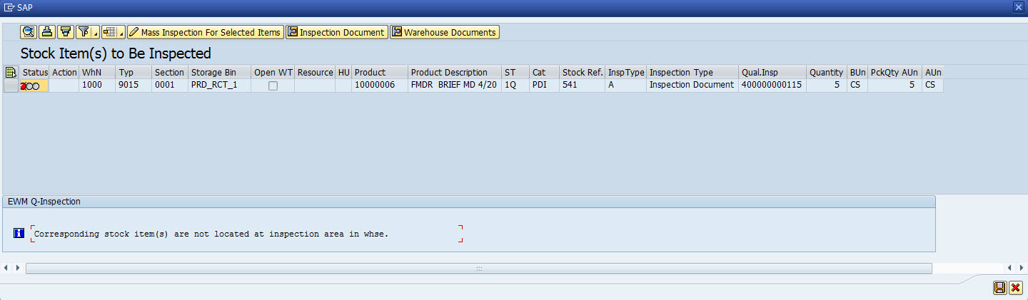 Configure Quality Inspection in EWM – Step by Step process