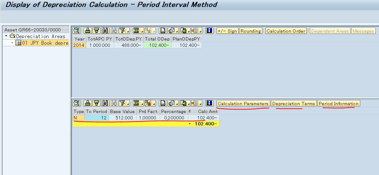 How to debug the depreciation calculation in new