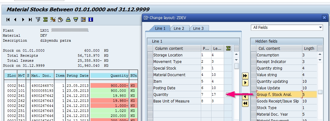 Uses of Movement type group for stock analysis in MB5B | SAP Blogs