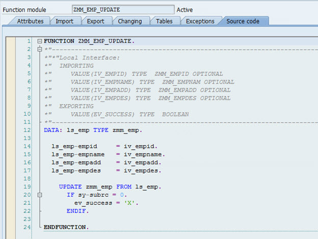Simple Exercise on OData and SAP UI5 Application for the basic CRUD