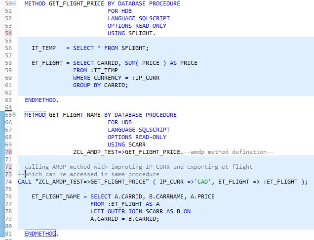 Call AMDP(ABAP Managed Database Procedure) Inside AMDP