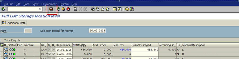 Pull List and Stock Determination in Production | SAP Blogs