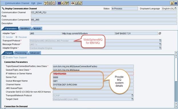 WebSphere MQ JMS adapter configurations for SAP PI | SAP Blogs