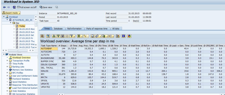 Execution Performance of Transaction/Report/Developments