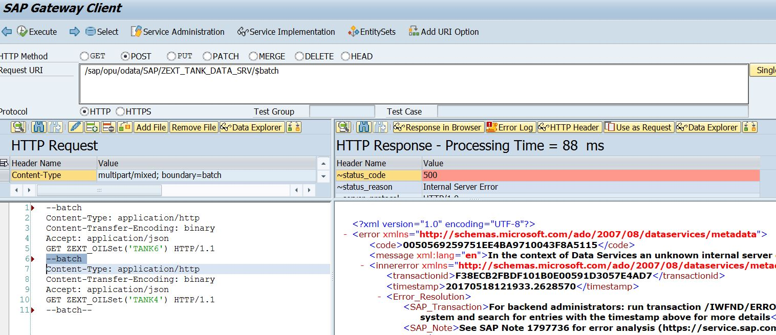Simple steps to perform Batch Operations in SAP Gateway