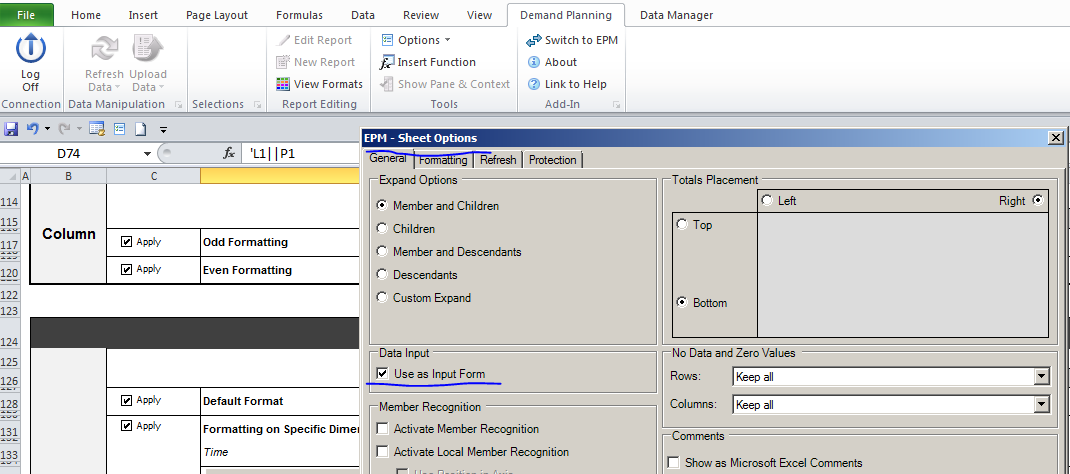 Demand Planning Add-In for Microsoft Excel | SAP Blogs