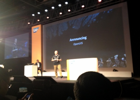 OpenUI5 Announcement Michael Reh SAP TechEd Bangalore 2013.JPG