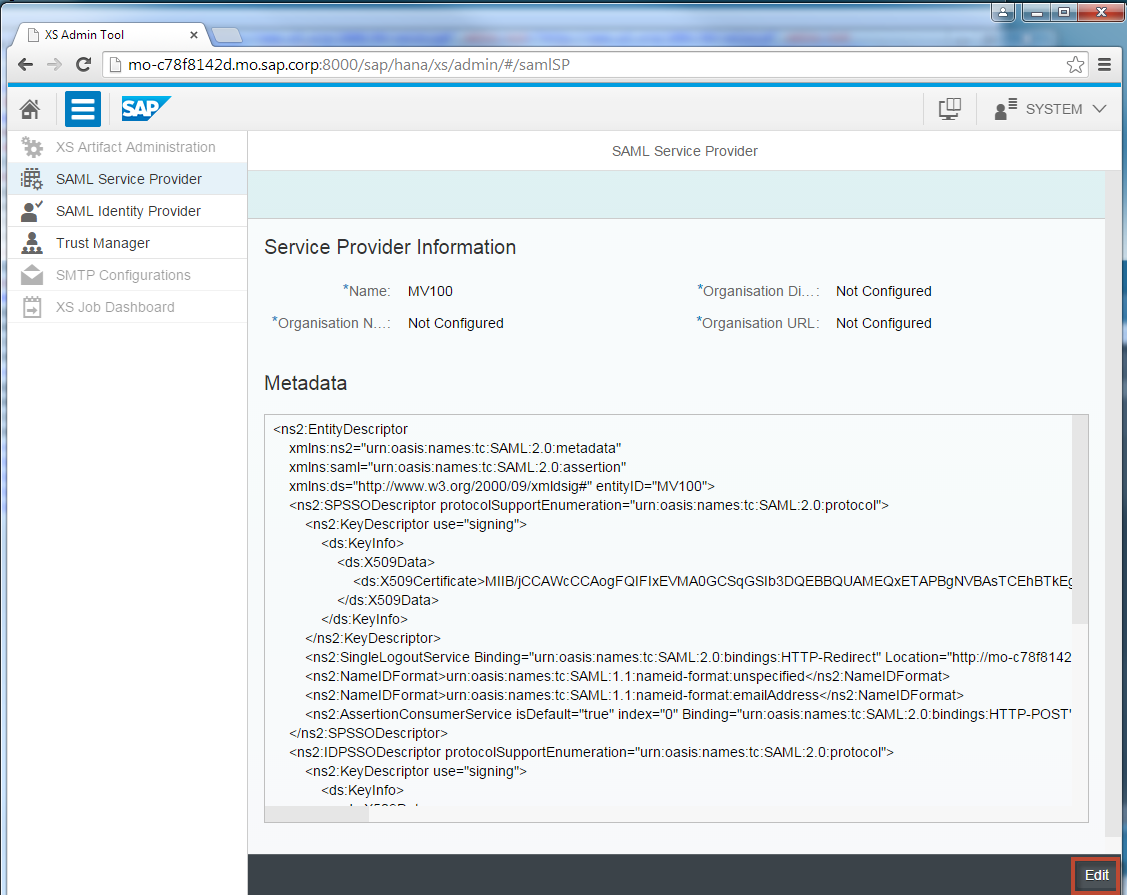 Use SAML to enable SSO for your SAP HANA XS App (SPS 09 rev