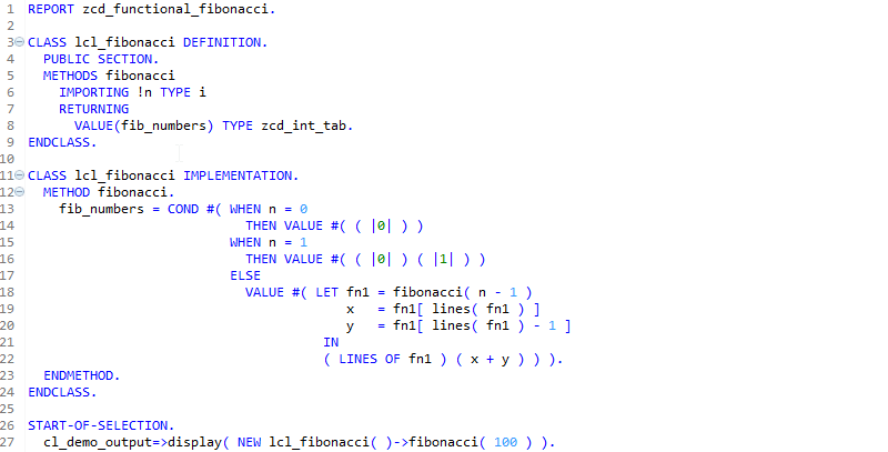 Functional ABAP – Functional Programming in ABAP ?! | SAP Blogs
