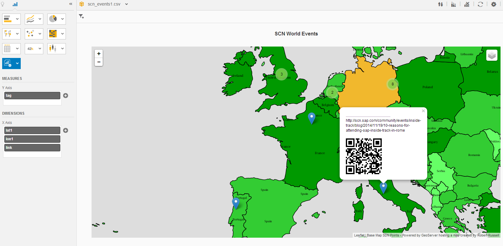 Lumira Extensions for Maps and QRcodes | SAP Blogs