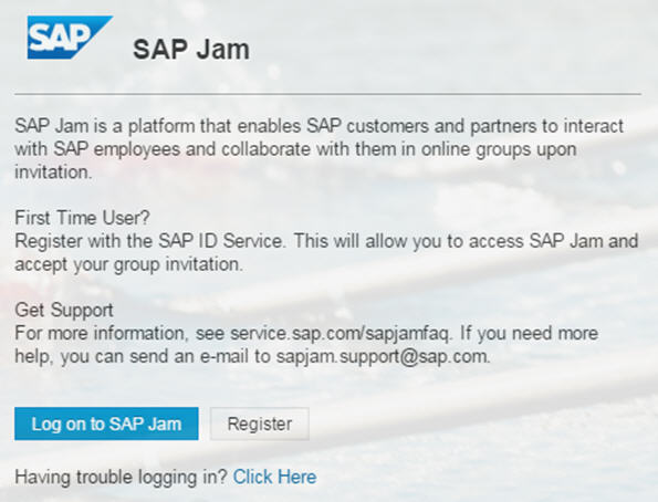 How to log on to SAP JAM (for externals) | SAP Blogs