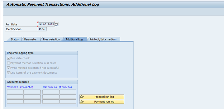 Automatic Payment Program F110purpose Of Vendor Number Ranges In