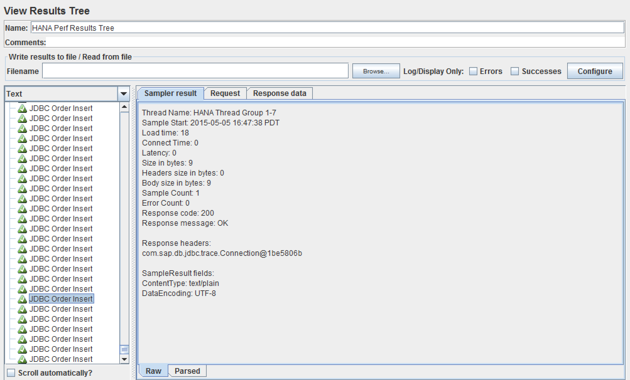 HANA DB test plan using JMeter | SAP Blogs