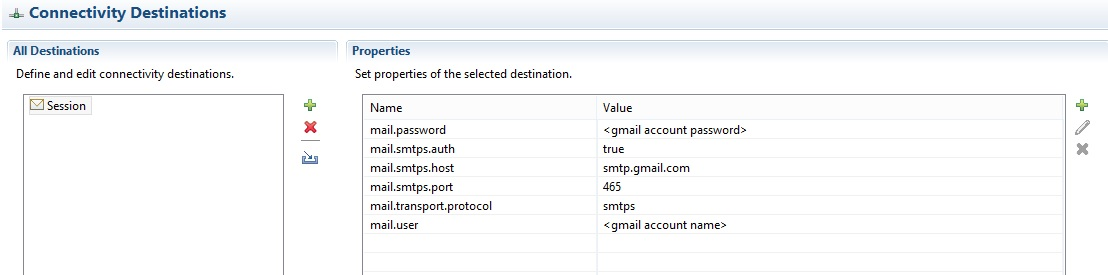 Sending Email using javax mail API and leveraging the connectivity