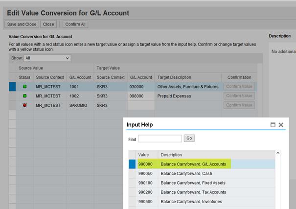 posting logic during migration of g l account balances open item