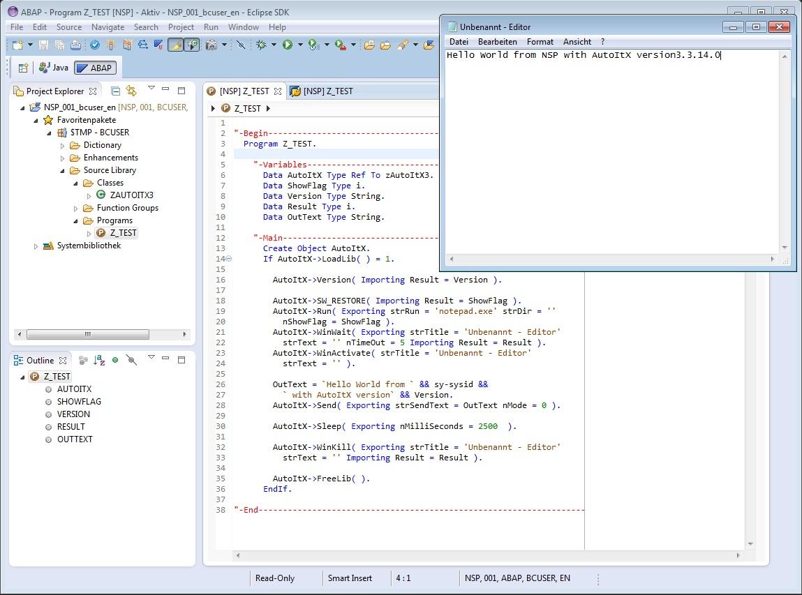 ABAP Wrapper Class for AutoItX | SAP Blogs