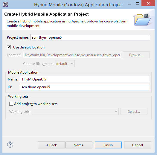 Create a simple hybrid app with Eclipse THyM and OpenUI5