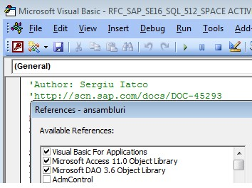 Read data from SAP tables into MS Access 2003 database | SAP Blogs