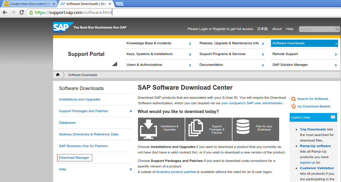 Installation & configuration of SAP Download Manager in Linux   SAP