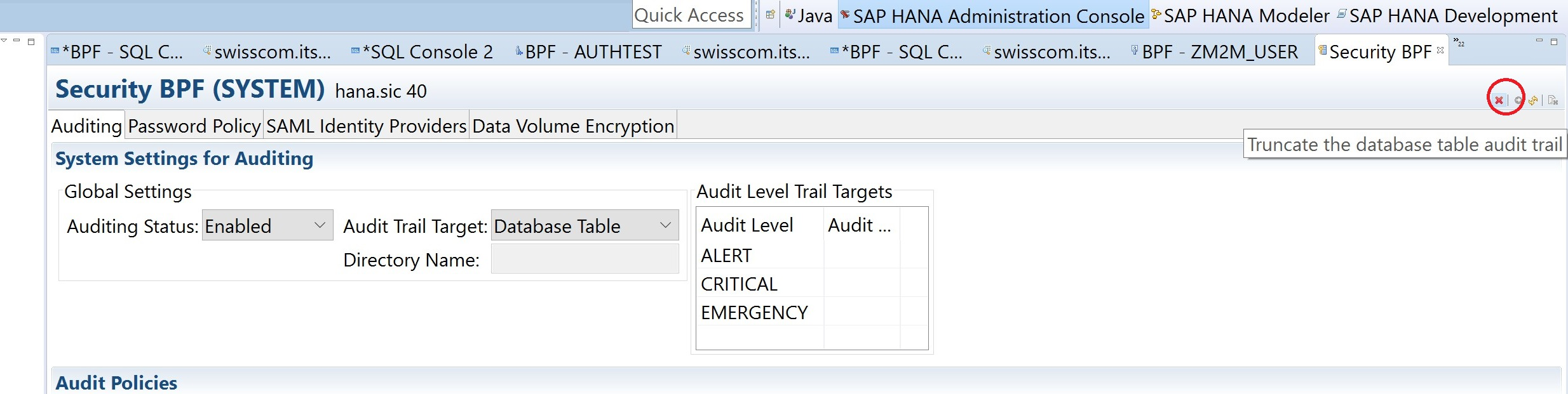 How To Setup Sap Hana Audit Trace Quick Start Blogs Database Security And Auditing Wp Content Uploads 2015 08 Button Truncate 770788