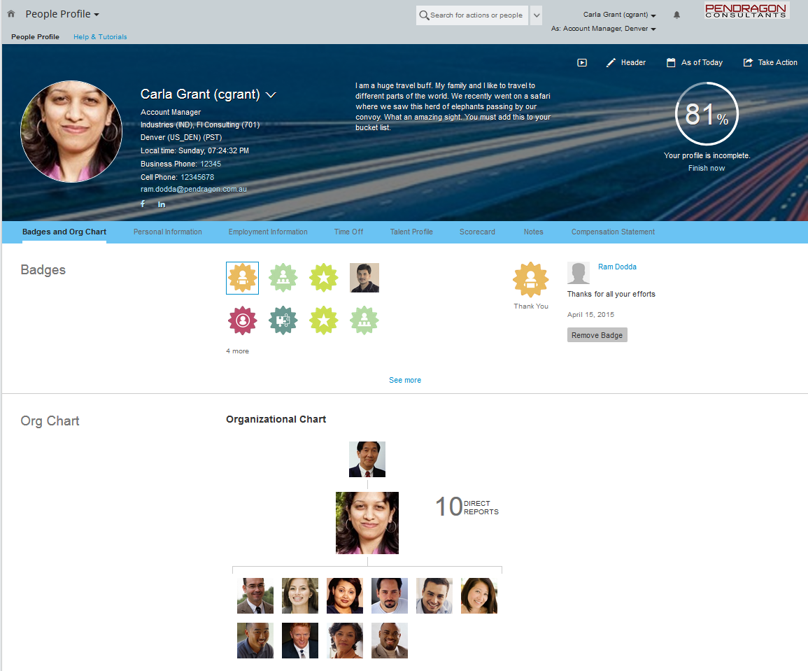 People Profile in SuccessFactors | SAP Blogs
