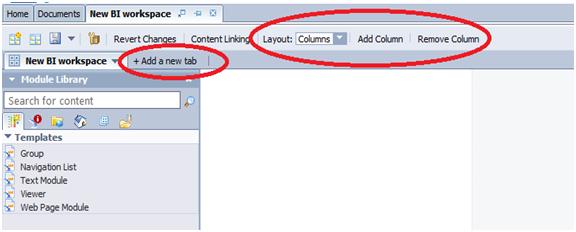 create tab menu for bo webi reports in bi launchpad using bi