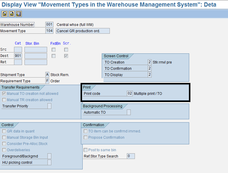 Printing Transfer Order in warehouse management  | SAP Blogs