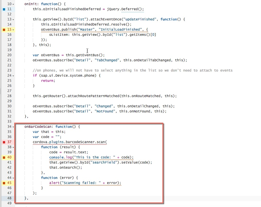 How to use Kapsel Barcode Scanner plugin with SAP Web IDE
