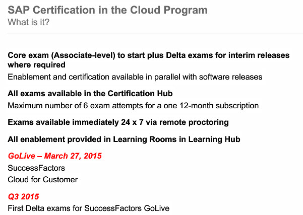 What is new In SAP Certification Part 2 | SAP Blogs