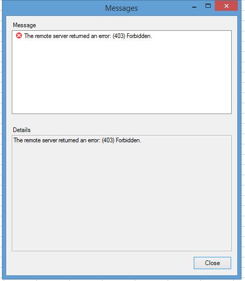 How to Resolve Remote server returned an error:(403