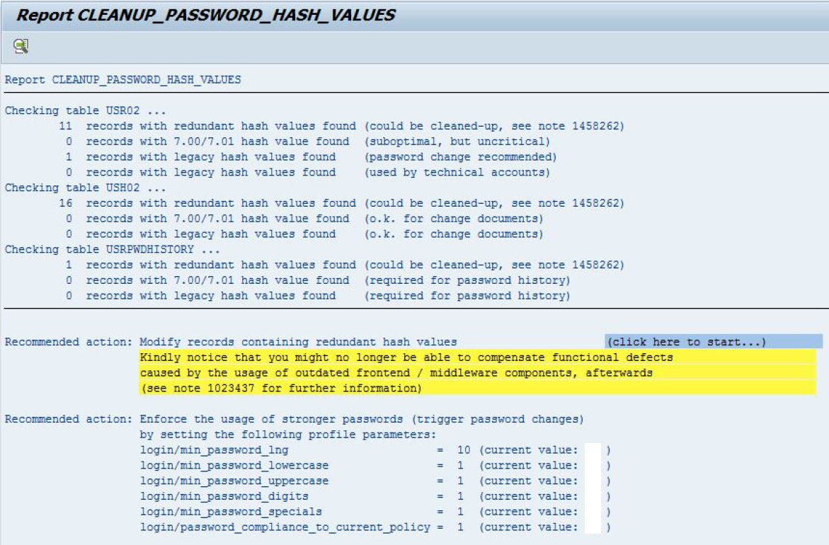 ABAP password hash algorithms: CLEANUP_PASSWORD_HASH_VALUES