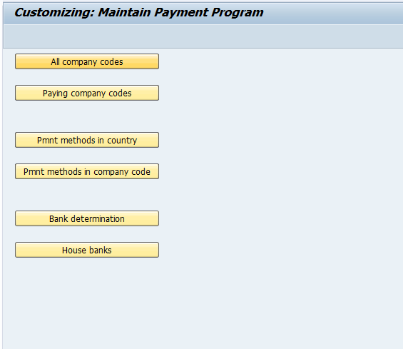 Payment Advice configuration and activation for different