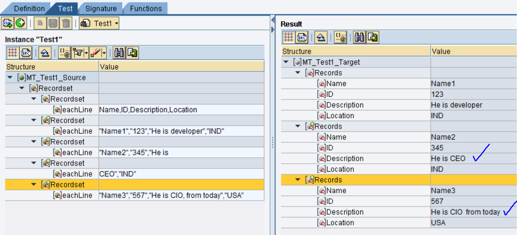 handling newline and comma in data field of a csv file using an