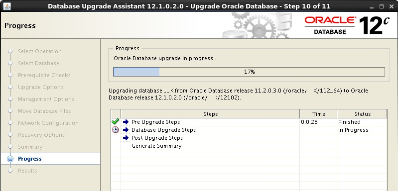 SAP ORACLE UPGRADE STEPS FROM 11g TO 12c FOR SAP SYSTEMS ON LINUX