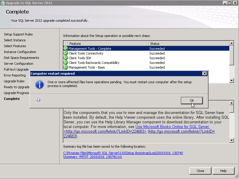 Step by step SQLServer upgrade from 2008 R2 SP3 to 2012