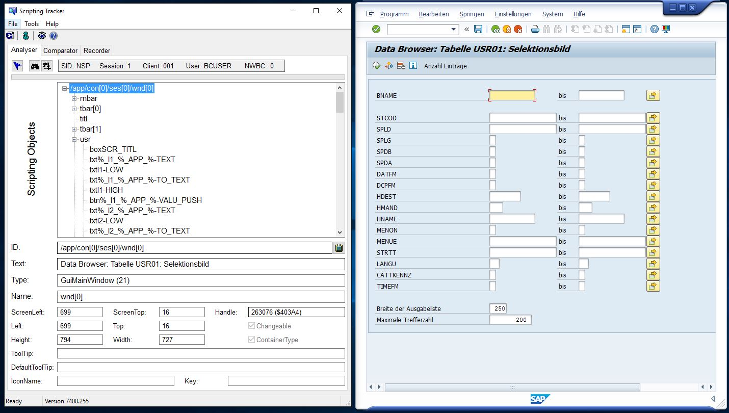 Scripting Tracker – Development Tool for SAP GUI Scripting