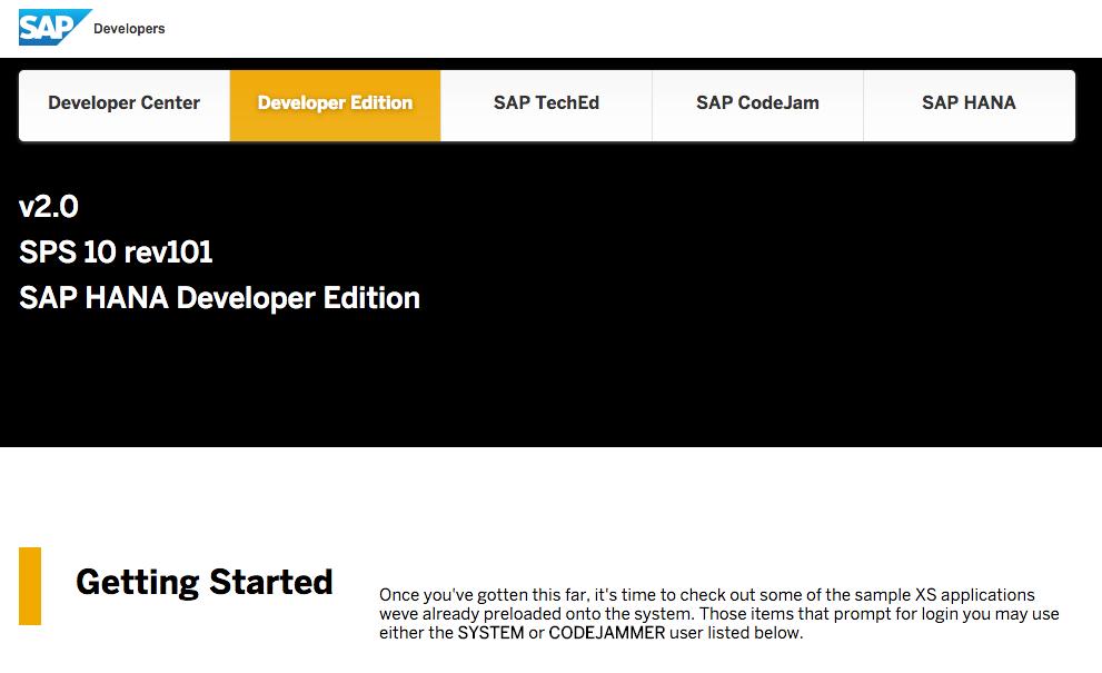 SAP HANA Developer Edition 10 Revision 72 - oukas info