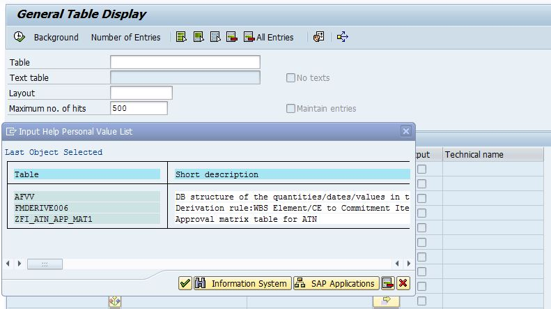 SAP – Finding tables/BAPIs SAP component/Sub-component wise