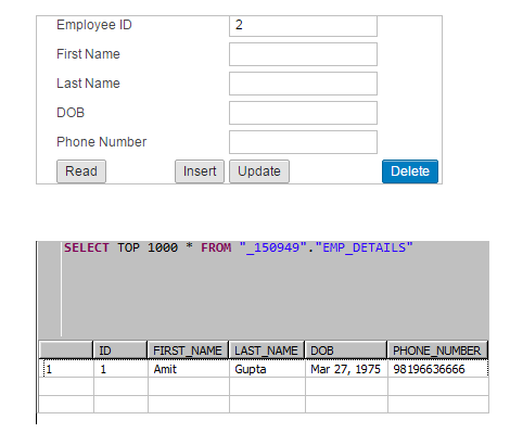 CRUD Operations with XSJS – SAP HANA Native Application