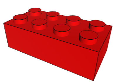 lego2x4red